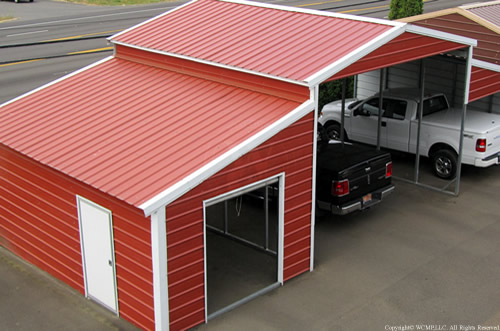 West coast metal buildings home carports garages for Small metal barns