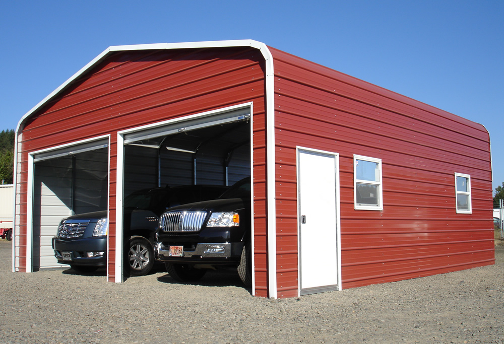 Portable carports washington state 18ft wide metal for Carport shop