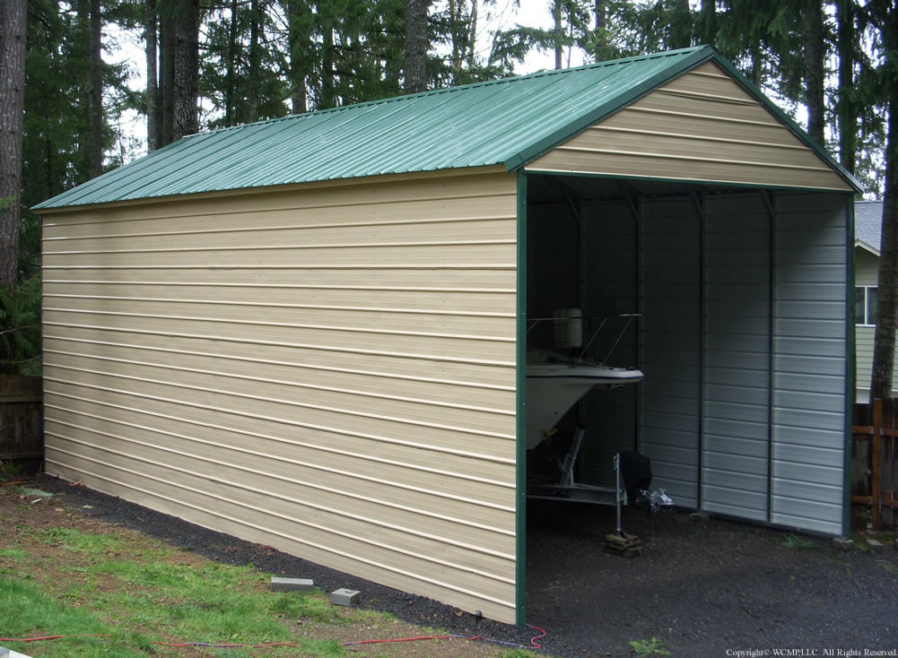 Two Car Garage Installed Barns Carports More: West Coast Metal Buildings