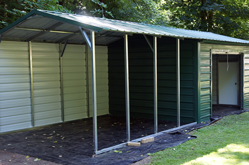 Small Metal Shelters : West coast metal buildings utility carports